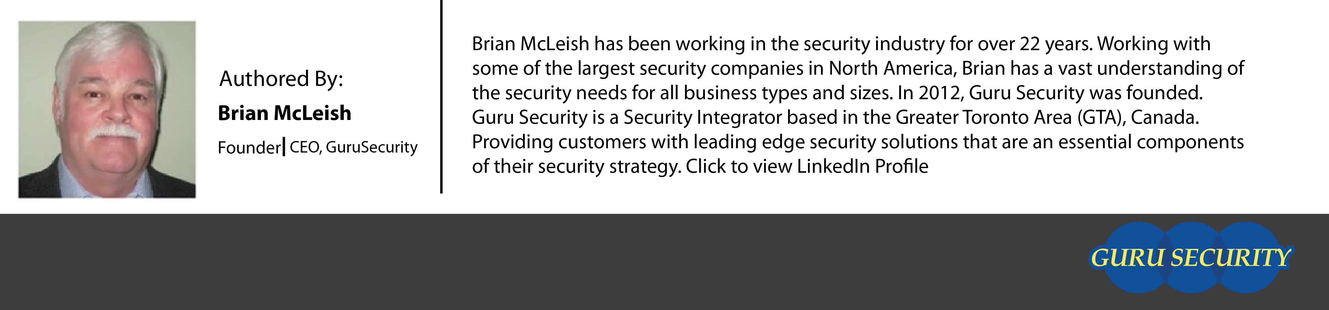 Brian McLeish Owner Guru Security